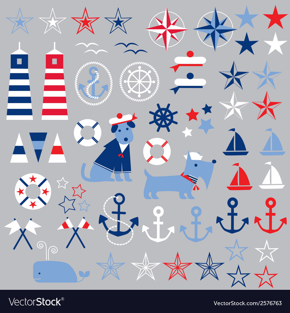 Nautical clipart vector | Price: 1 Credit (USD $1)