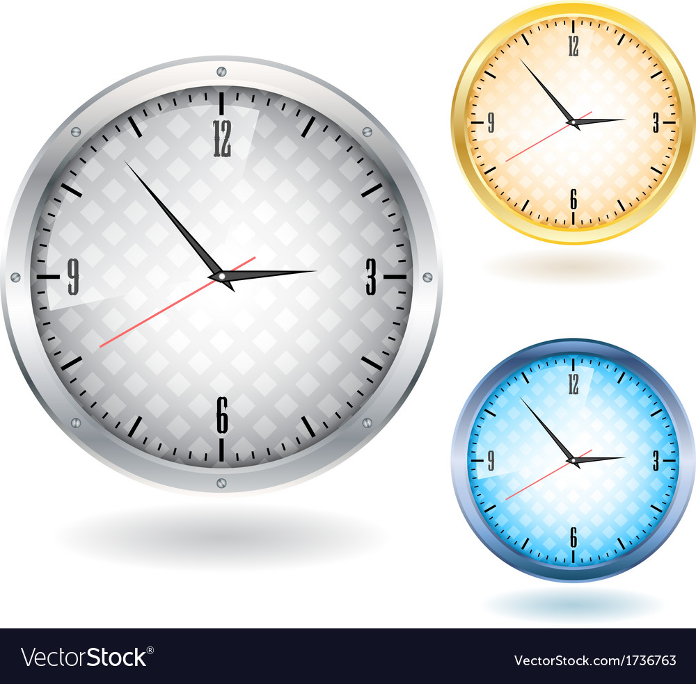 Nice clocks vector | Price: 1 Credit (USD $1)