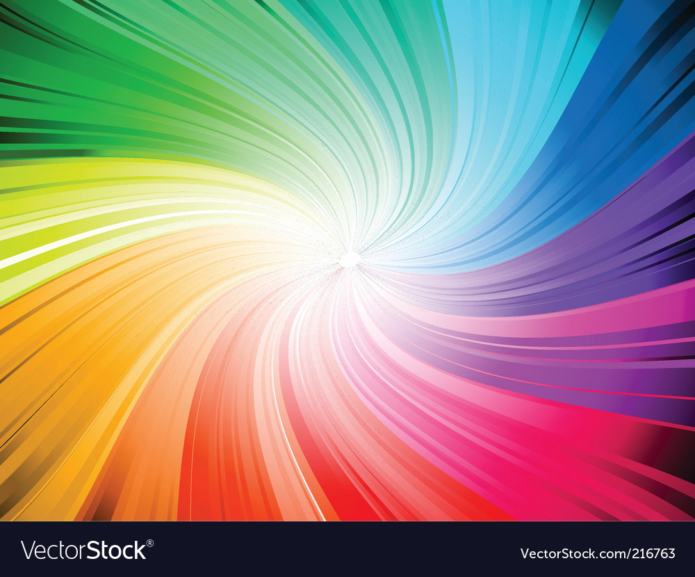 Rainbow swirl vector | Price: 1 Credit (USD $1)