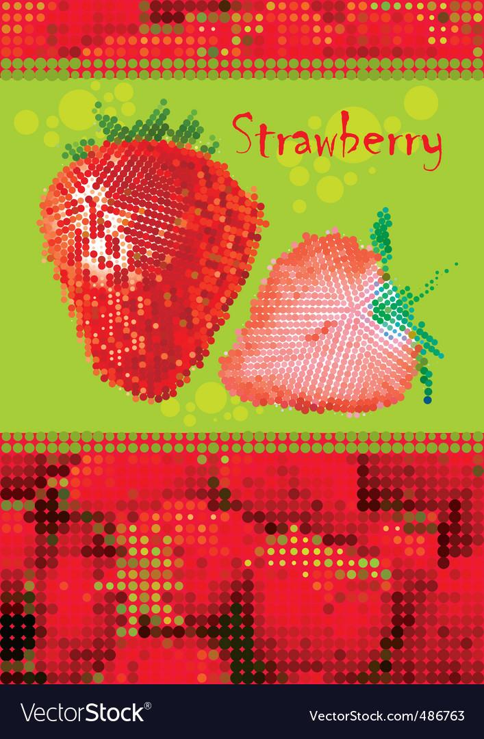 Strawberry menu vector | Price: 3 Credit (USD $3)