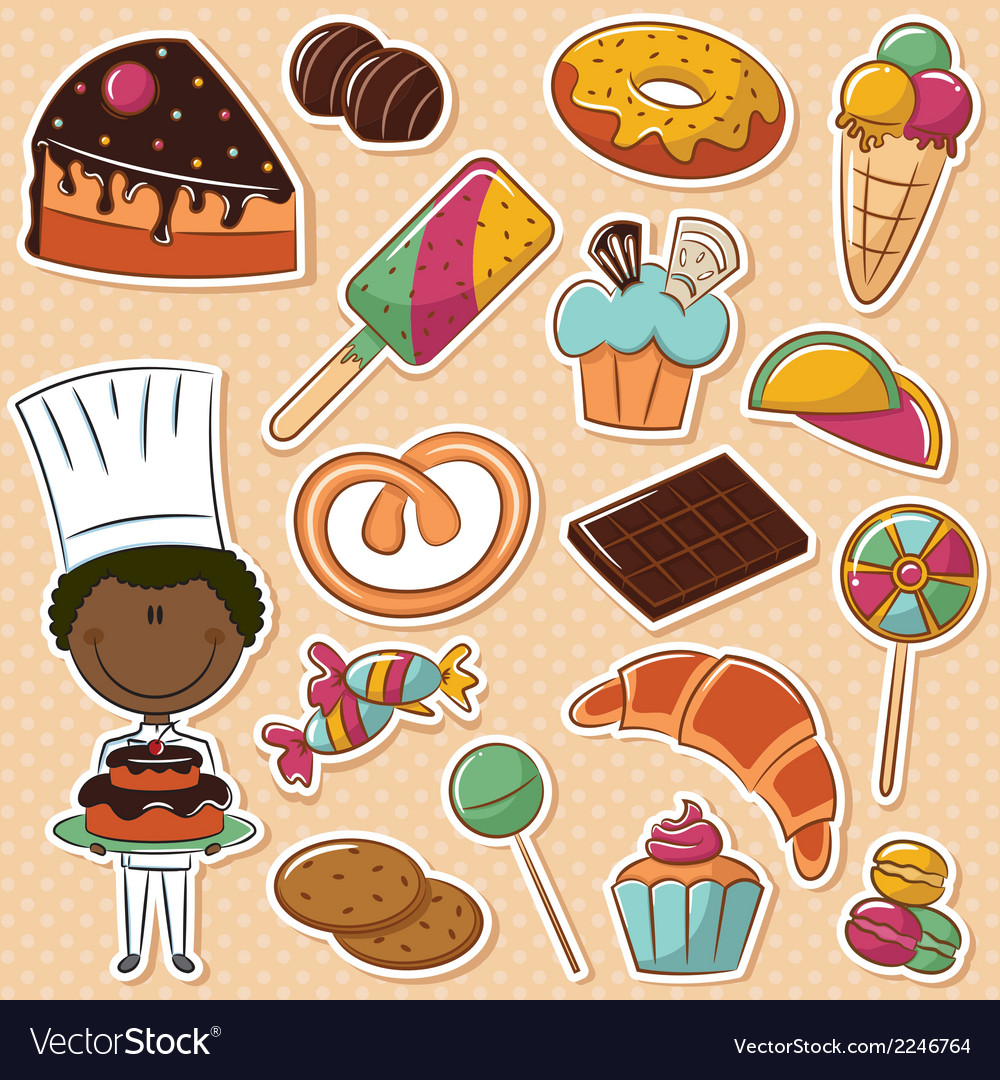 African-american confectioner vector | Price: 1 Credit (USD $1)