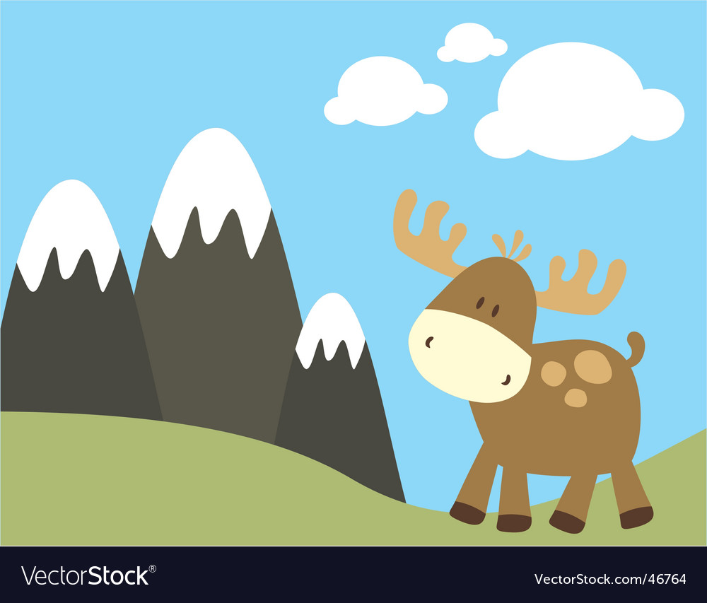 Baby moose vector | Price: 1 Credit (USD $1)
