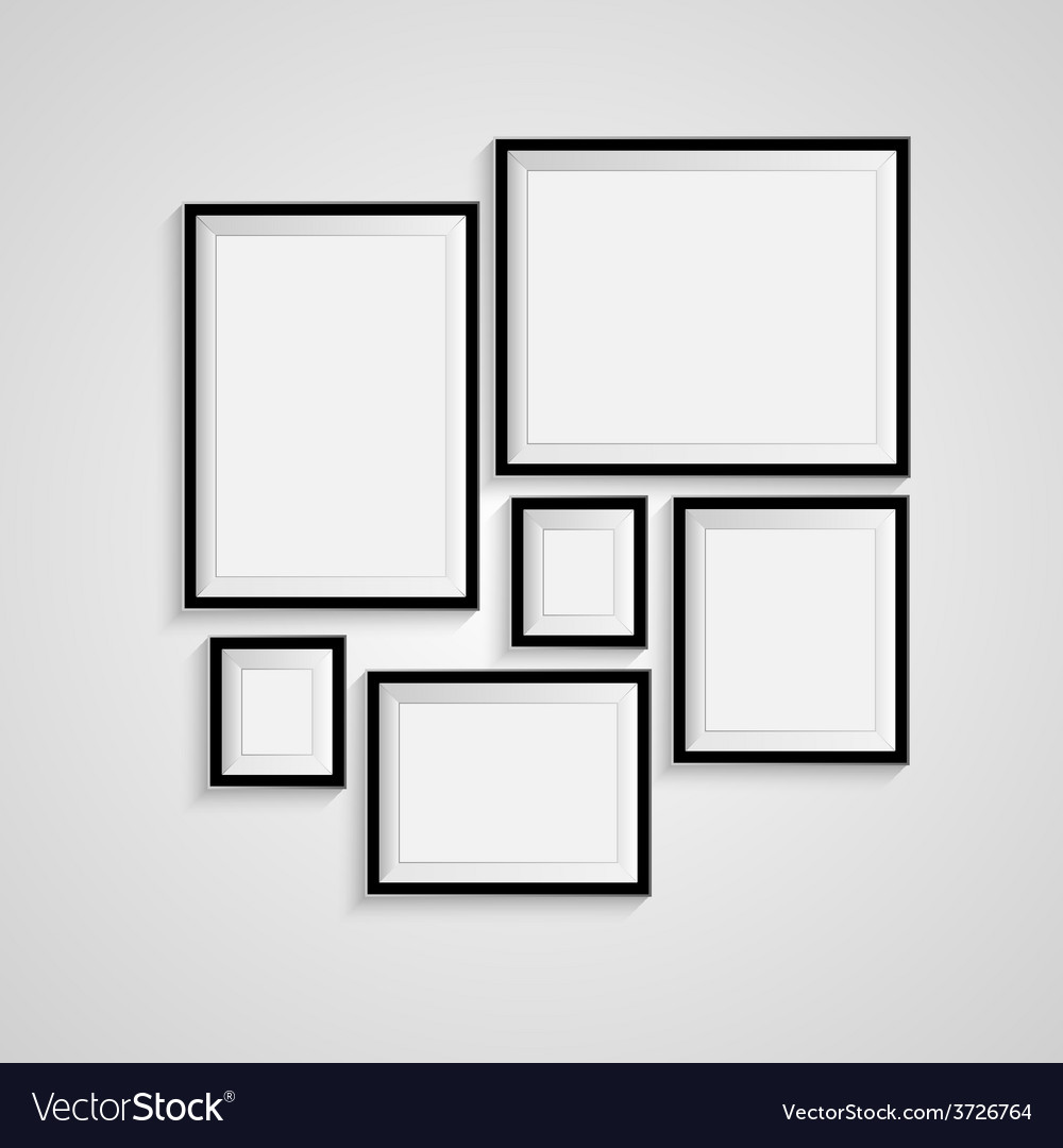 Blank frame on a white background vector | Price: 1 Credit (USD $1)