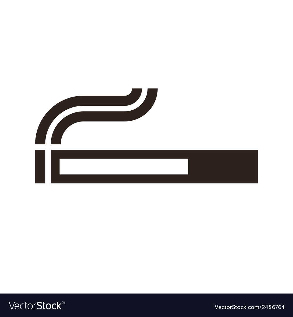 Cigarette sign vector | Price: 1 Credit (USD $1)