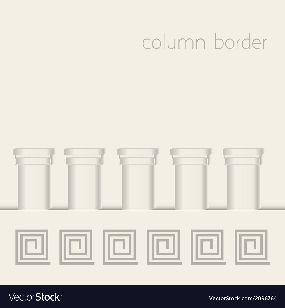 Column border vector | Price: 1 Credit (USD $1)