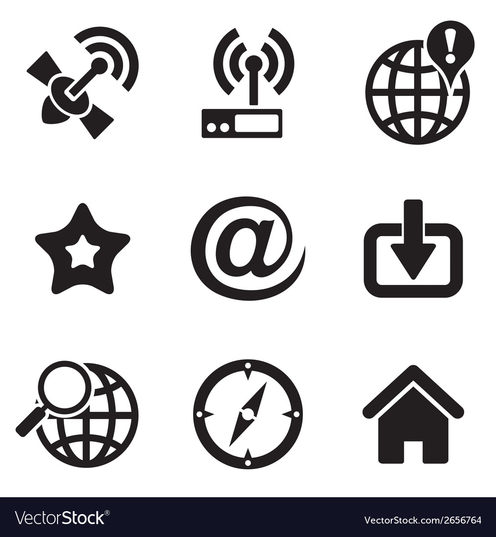 Computer web icons vector | Price: 1 Credit (USD $1)