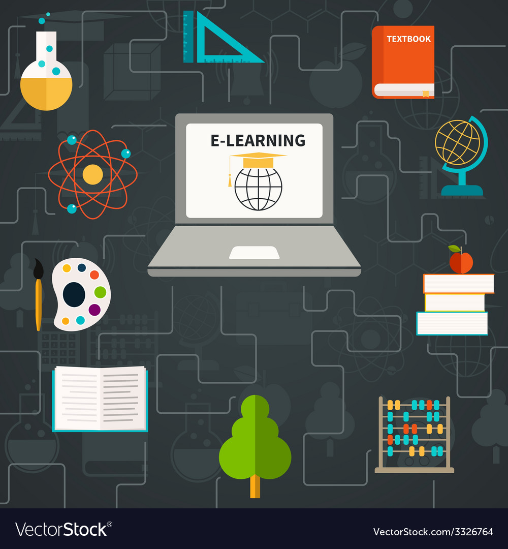 E-learning icons vector | Price: 1 Credit (USD $1)
