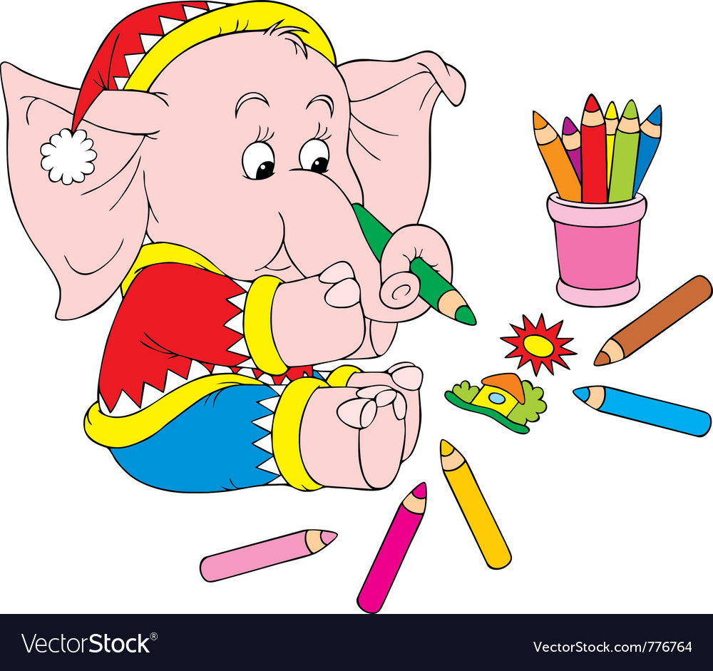 Elephant artist vector | Price: 3 Credit (USD $3)
