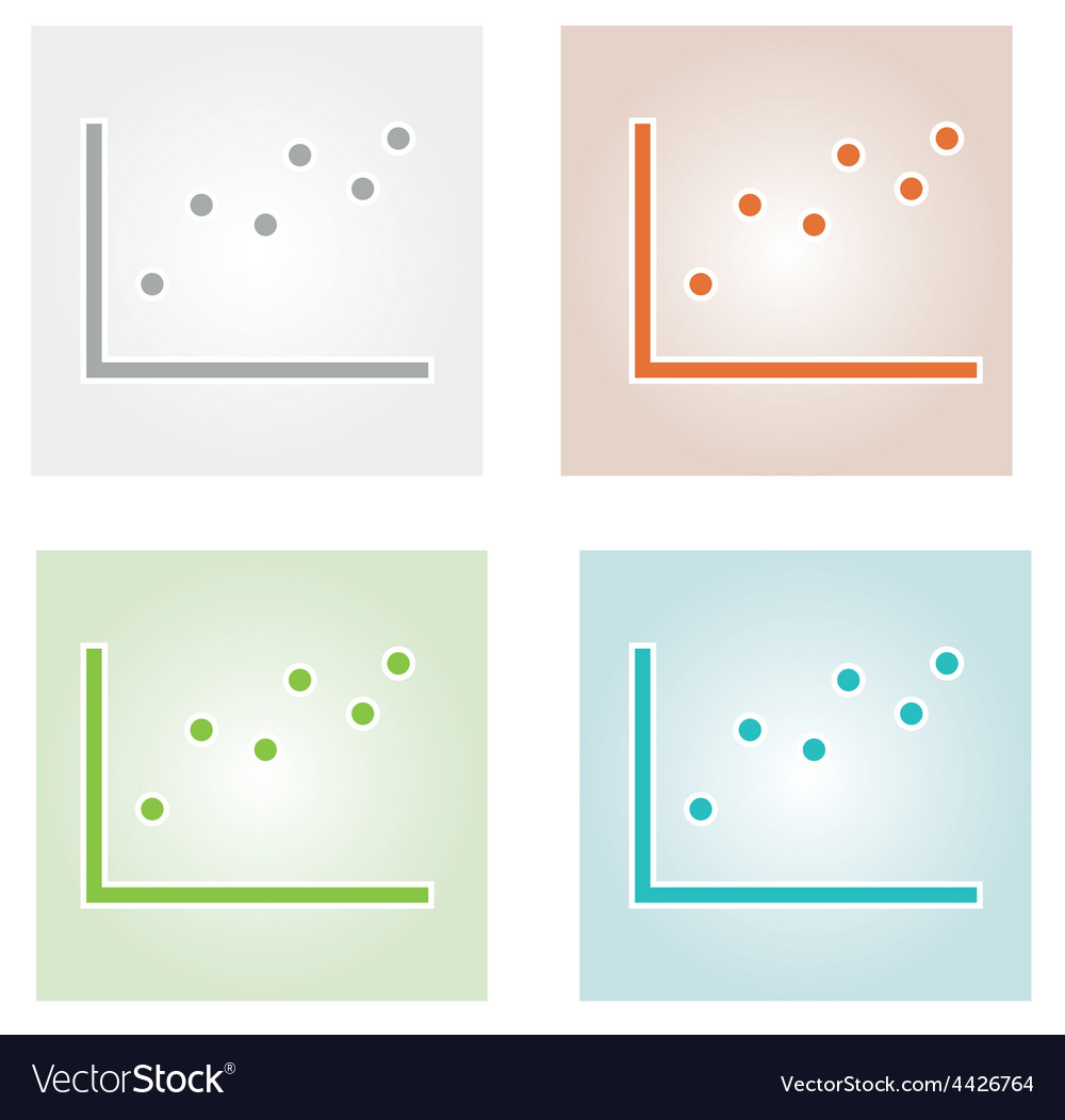 Four color dotted charts vector | Price: 1 Credit (USD $1)