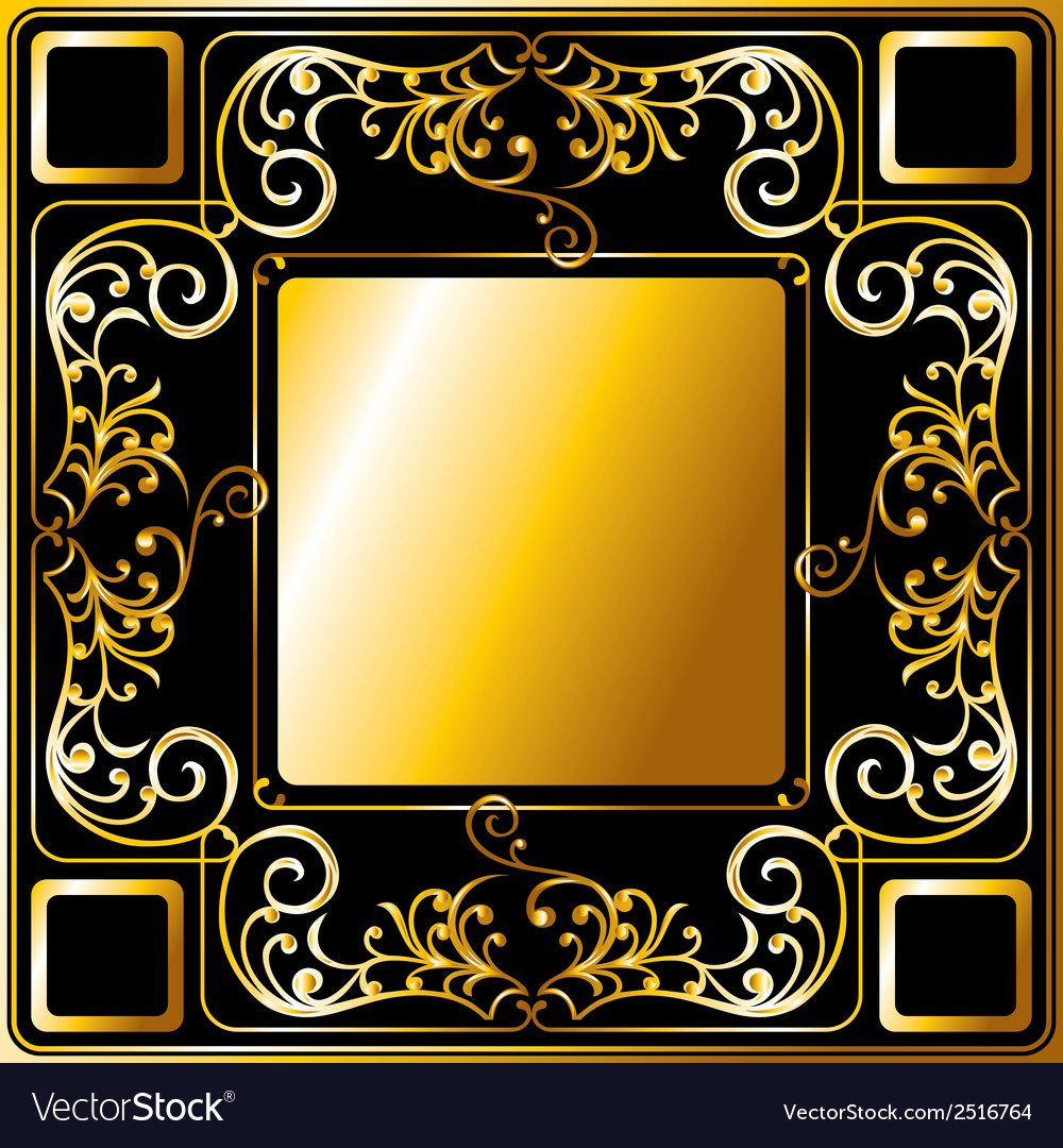 Gold frame ornament vector | Price: 1 Credit (USD $1)