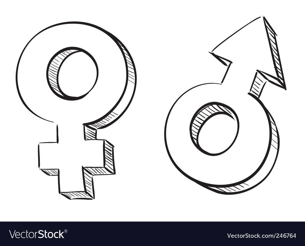 Male and female symbols vector | Price: 1 Credit (USD $1)