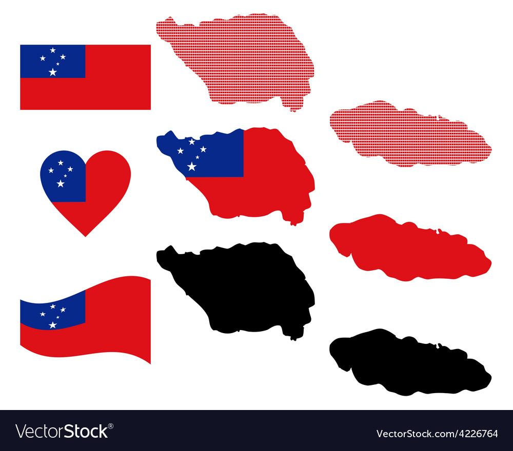 Map of samoa vector | Price: 1 Credit (USD $1)