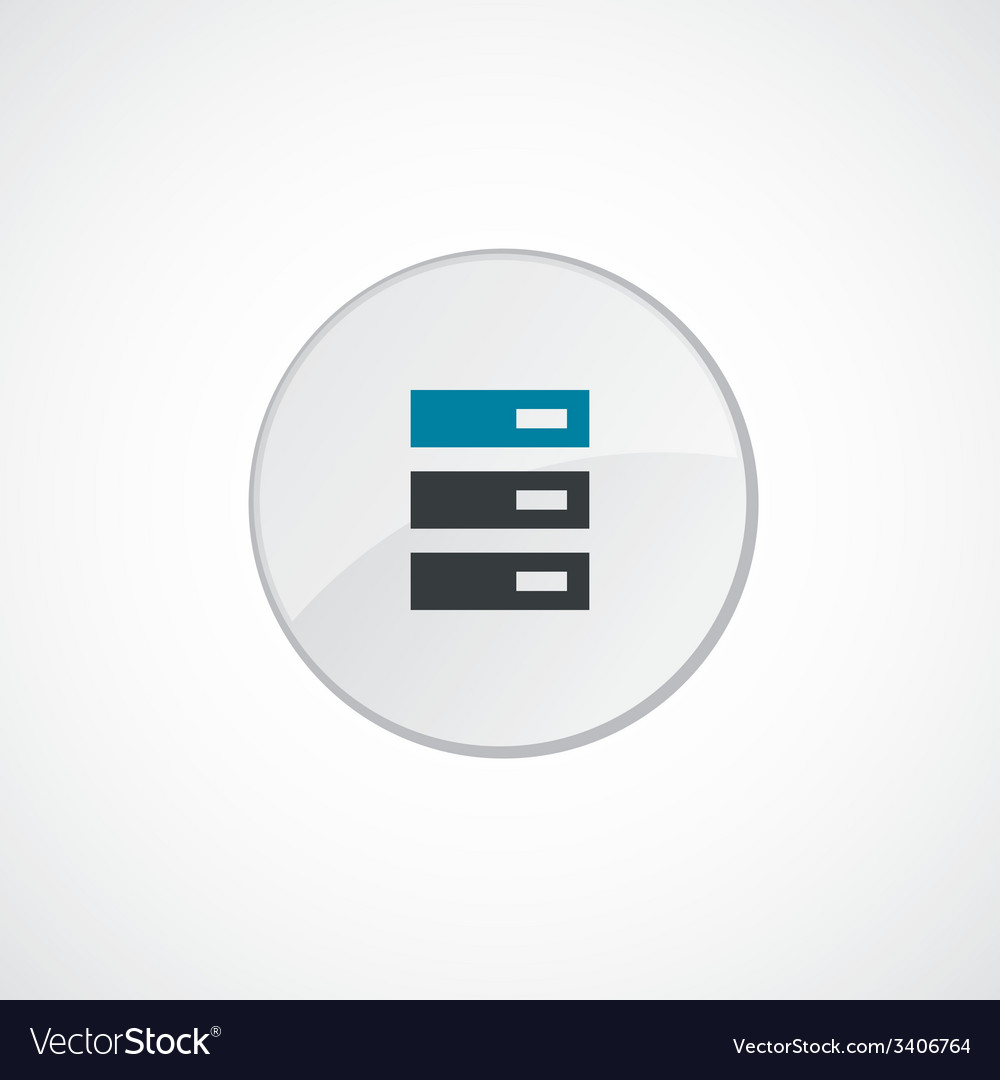 Server icon 2 colored vector | Price: 1 Credit (USD $1)