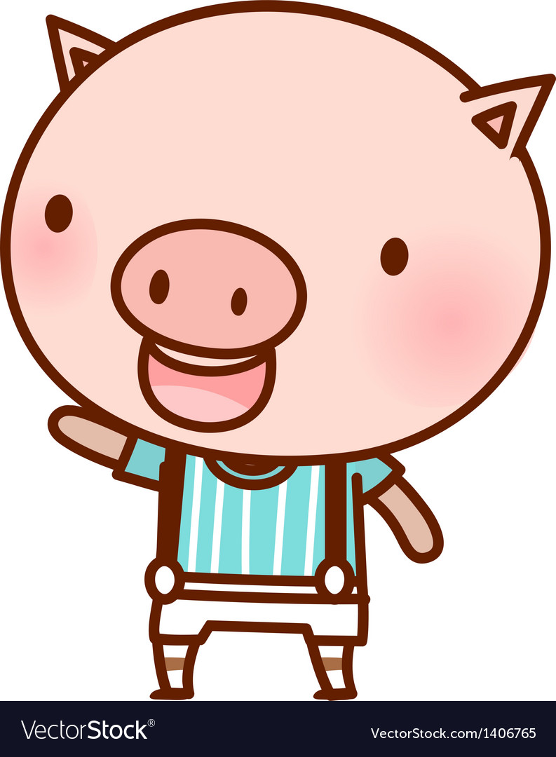 A standing pig vector | Price: 1 Credit (USD $1)