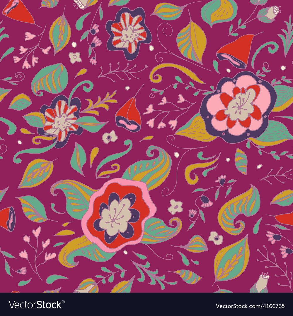 Abstract elegance seamless floral pattern on a vector | Price: 1 Credit (USD $1)