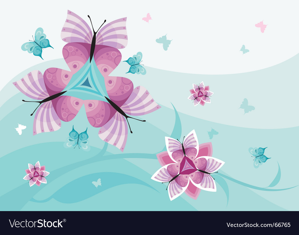 Butterfly flower vector | Price: 1 Credit (USD $1)