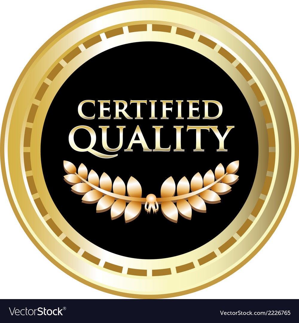 Certified quality black label vector | Price: 1 Credit (USD $1)
