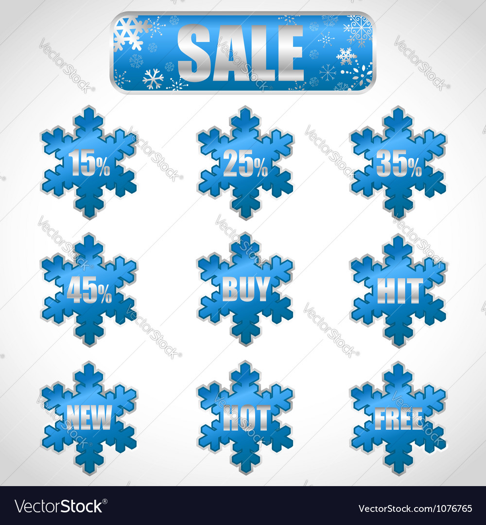 Christmas sale stickers vector | Price: 1 Credit (USD $1)