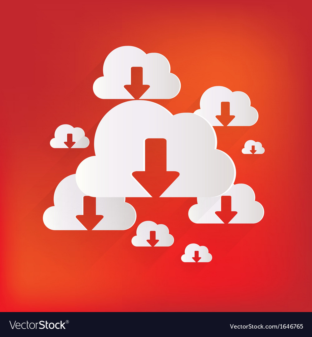 Cloud download application web icon vector | Price: 1 Credit (USD $1)