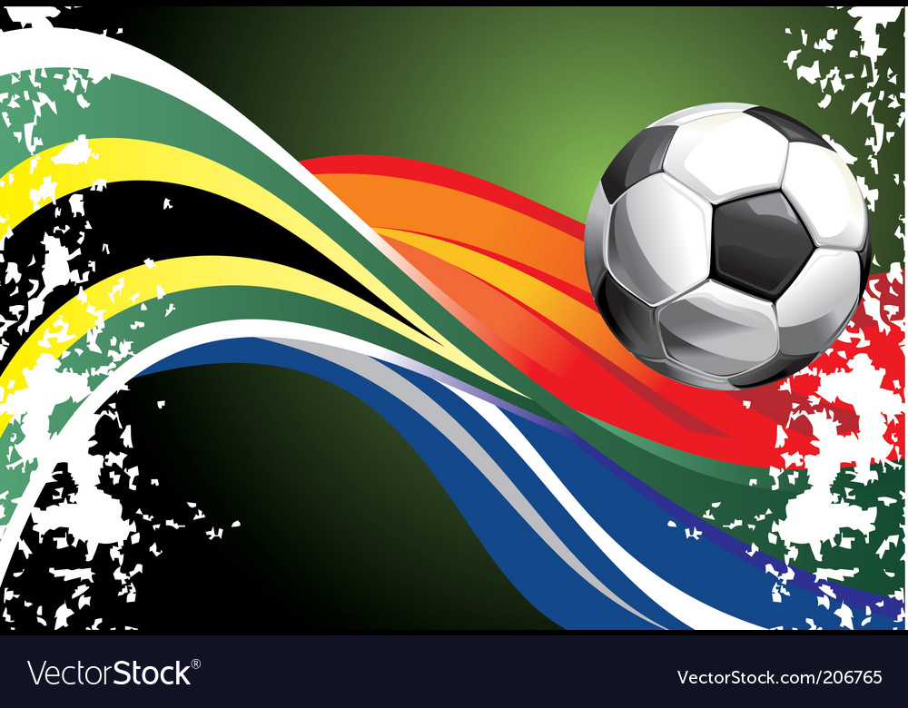 Football poster with national flags vector | Price: 1 Credit (USD $1)