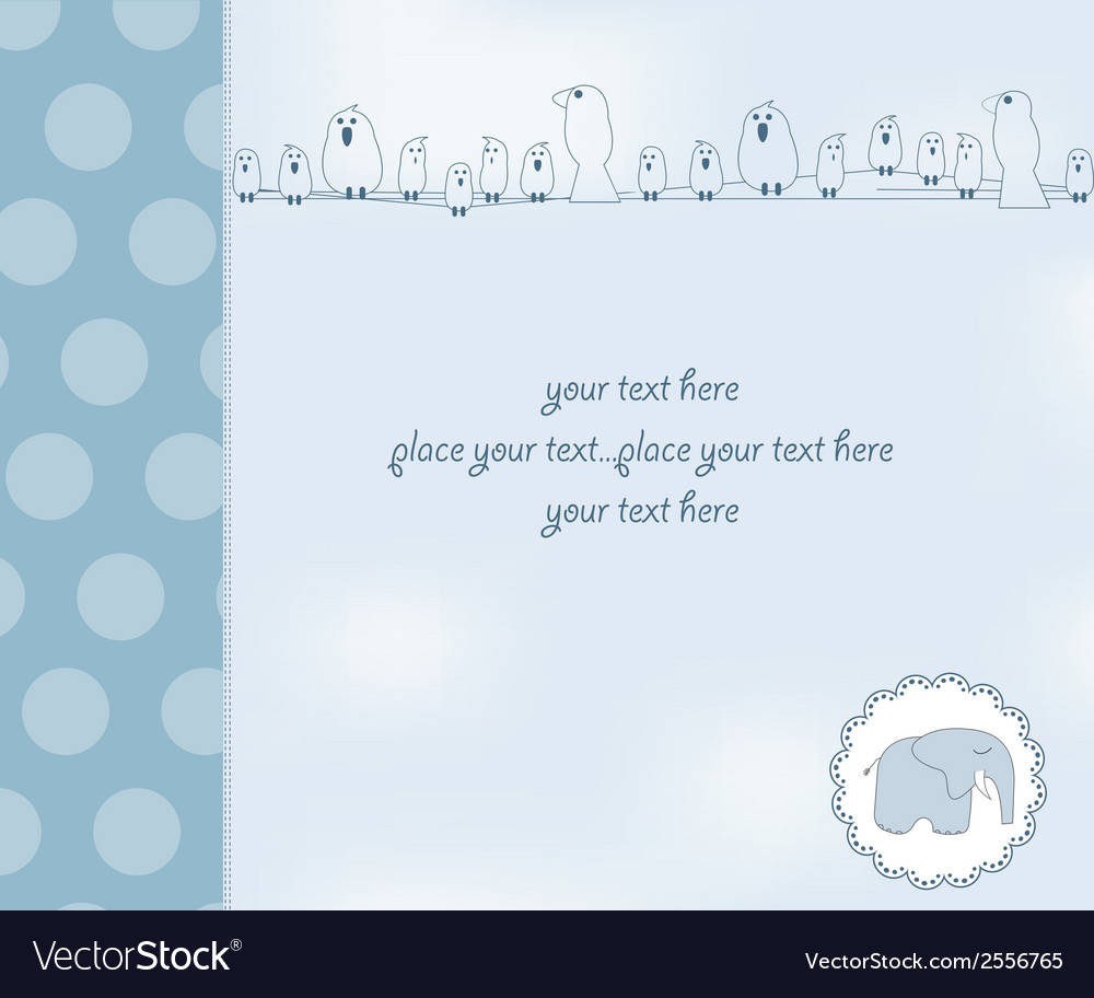 New baby boy shower card vector | Price: 1 Credit (USD $1)