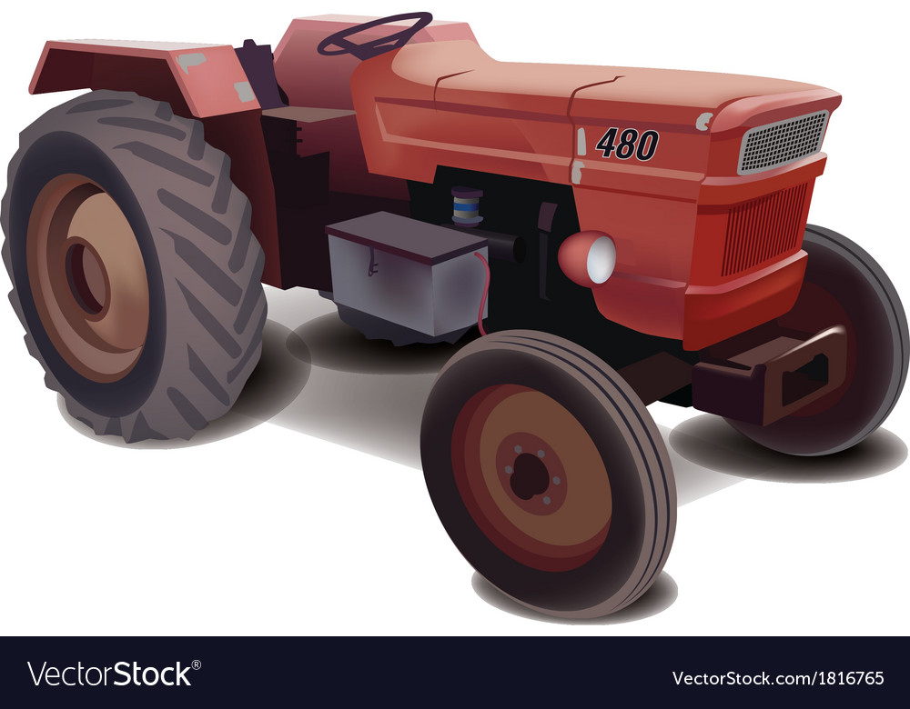 Old tractor vector | Price: 3 Credit (USD $3)