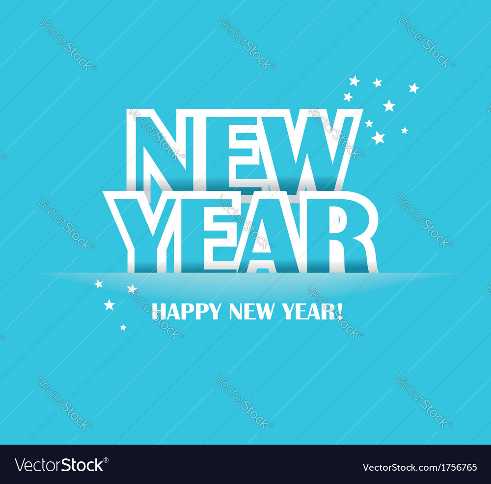 Paper folding with letter happy new year vector | Price: 1 Credit (USD $1)