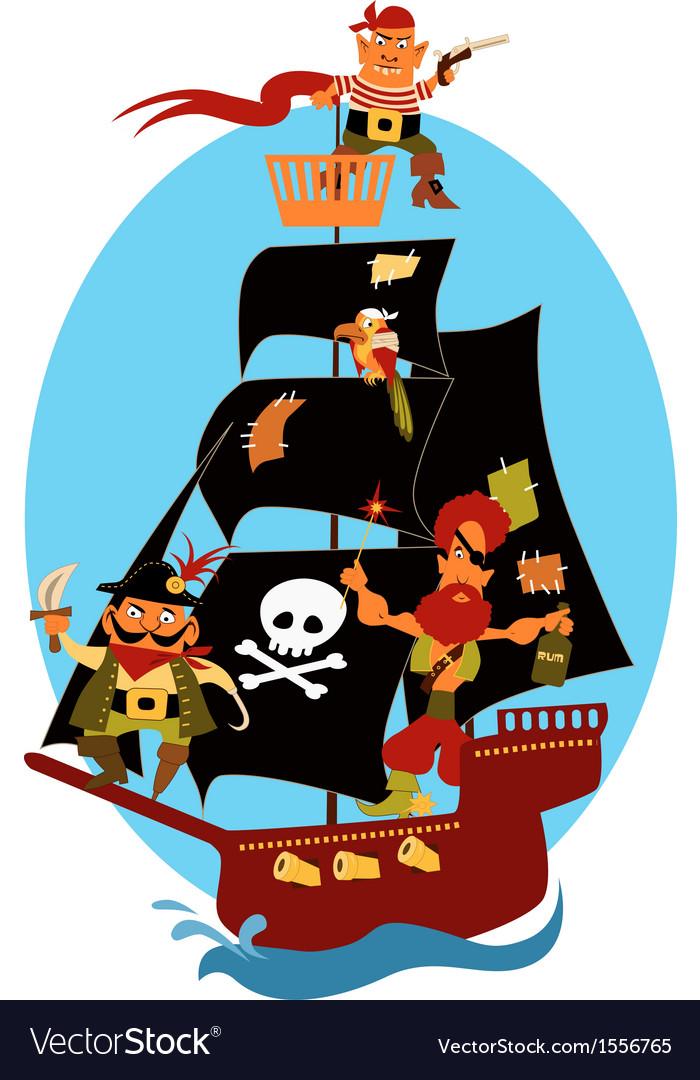 Pirate ship vector | Price: 1 Credit (USD $1)
