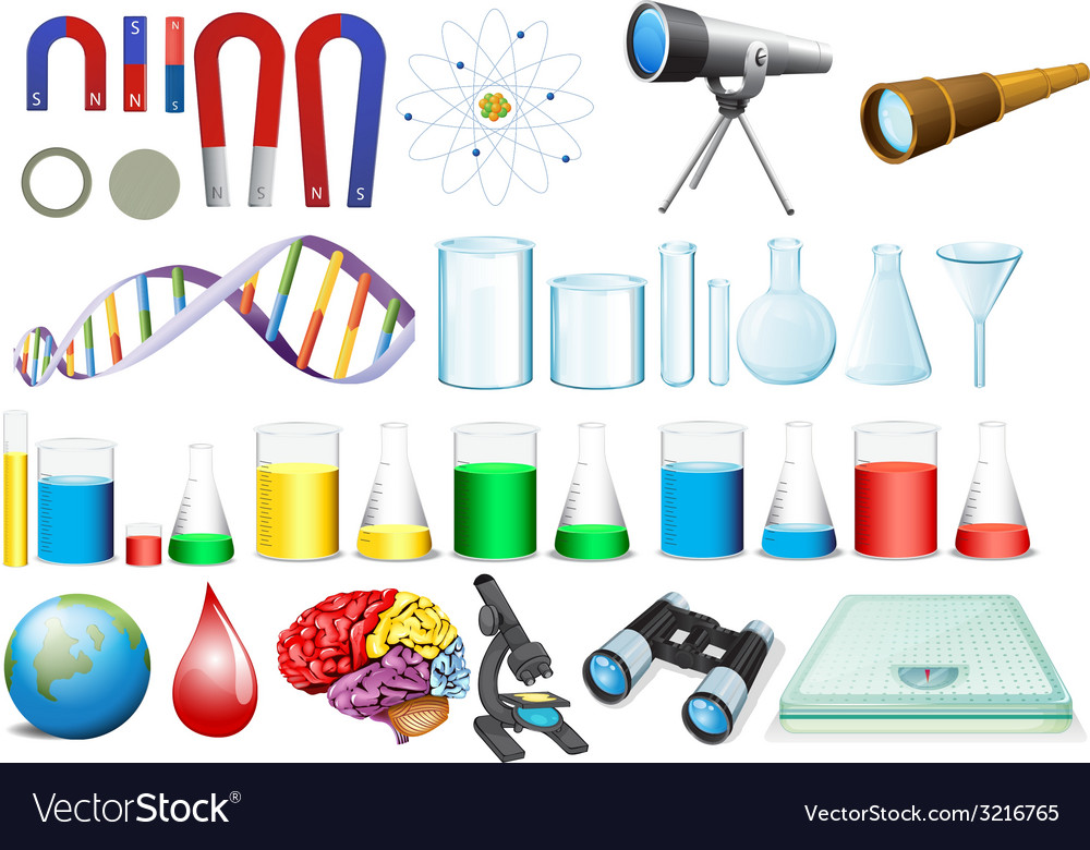 Science set vector | Price: 1 Credit (USD $1)