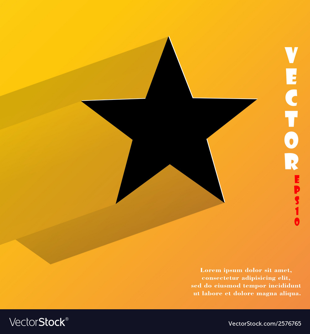 Star flat modern web button with long shadow and vector | Price: 1 Credit (USD $1)