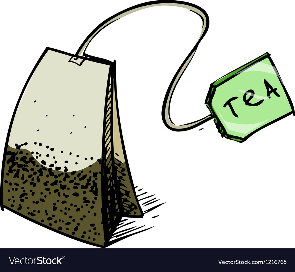 Tea bag with label vector | Price: 1 Credit (USD $1)