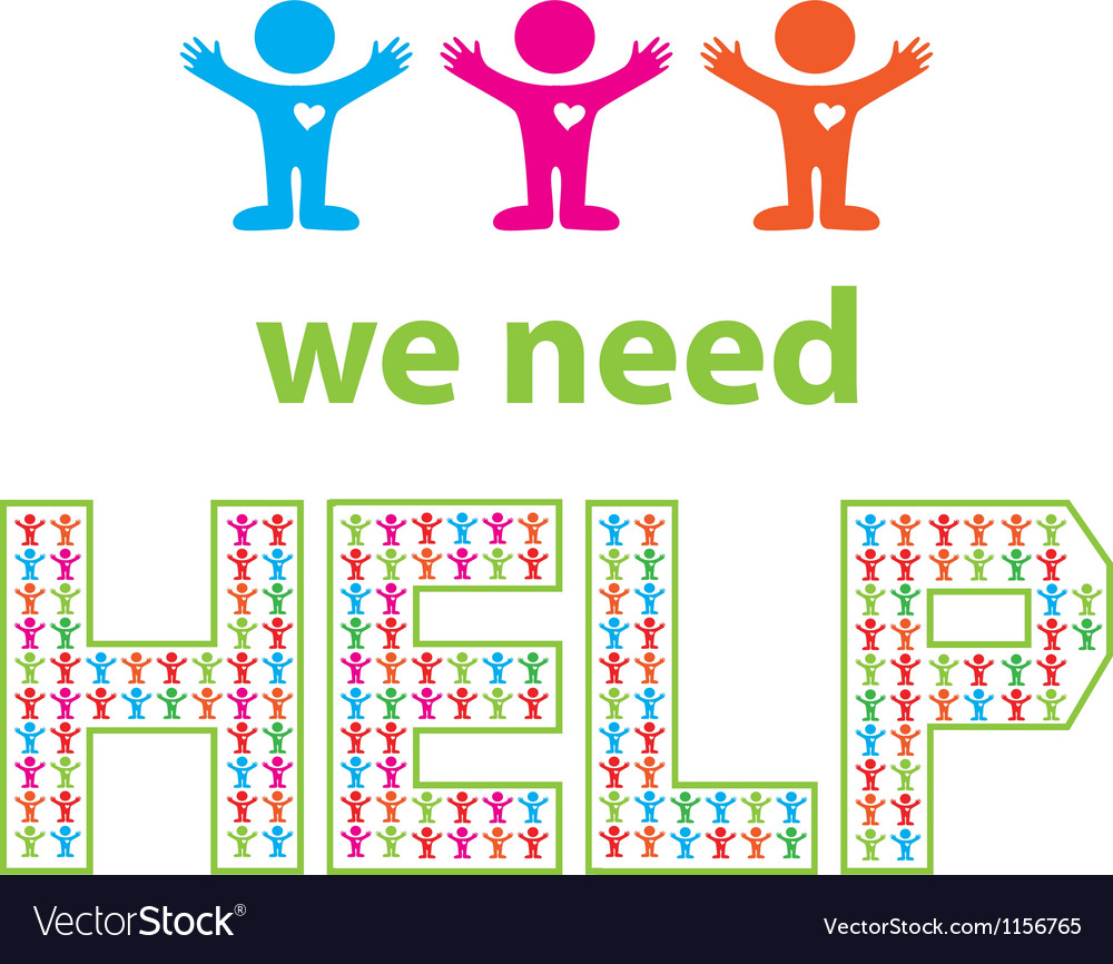 We need help vector | Price: 1 Credit (USD $1)