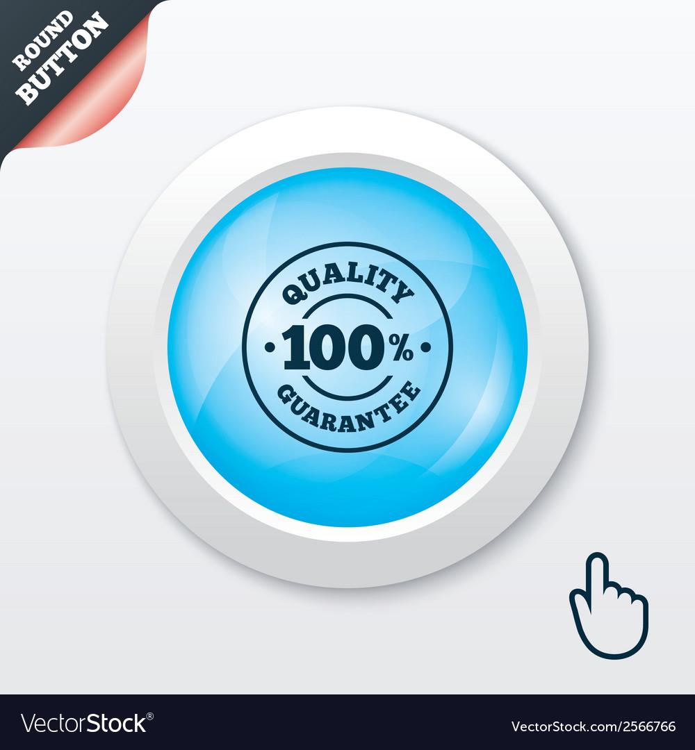 100 quality guarantee icon premium quality vector | Price: 1 Credit (USD $1)