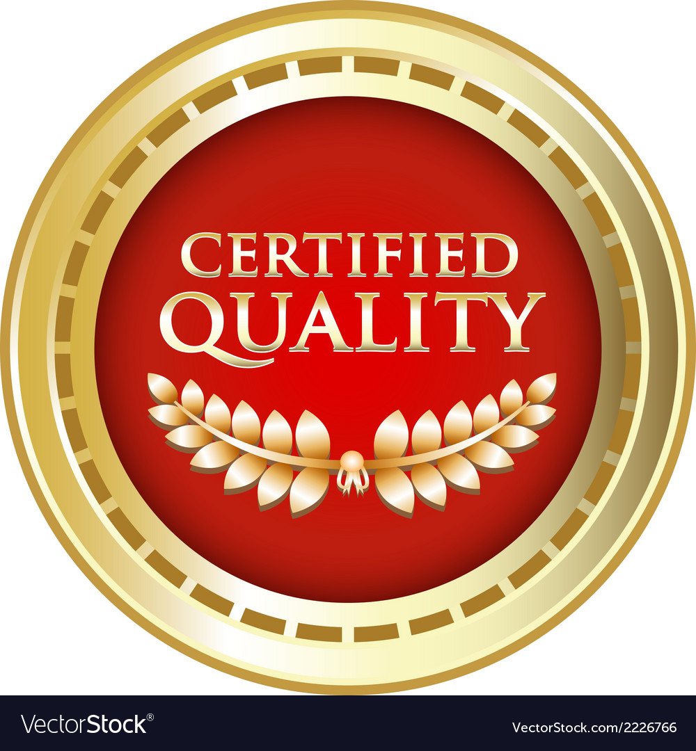 Certified quality gold emblem vector | Price: 1 Credit (USD $1)