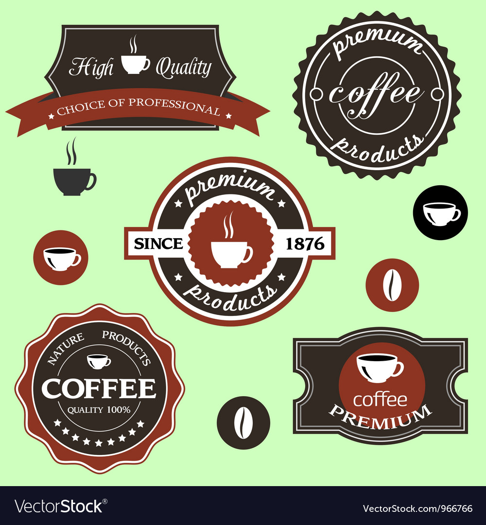 Coffee labels in retro style vector | Price: 1 Credit (USD $1)