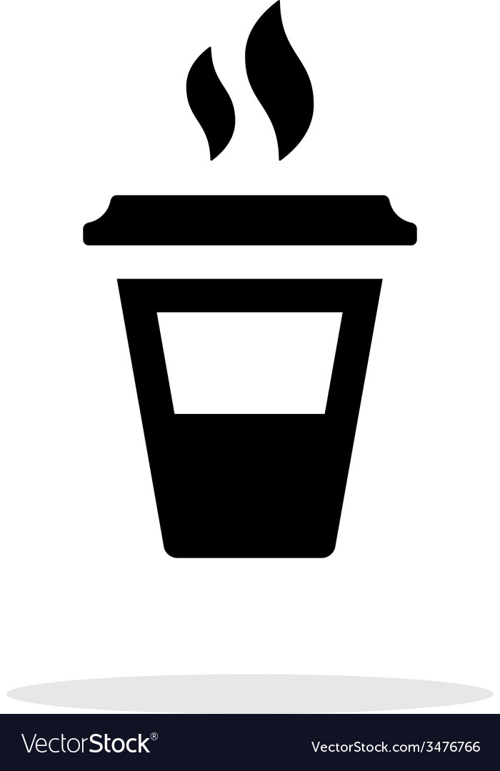 Half plastic cup simple icon on white background vector | Price: 1 Credit (USD $1)
