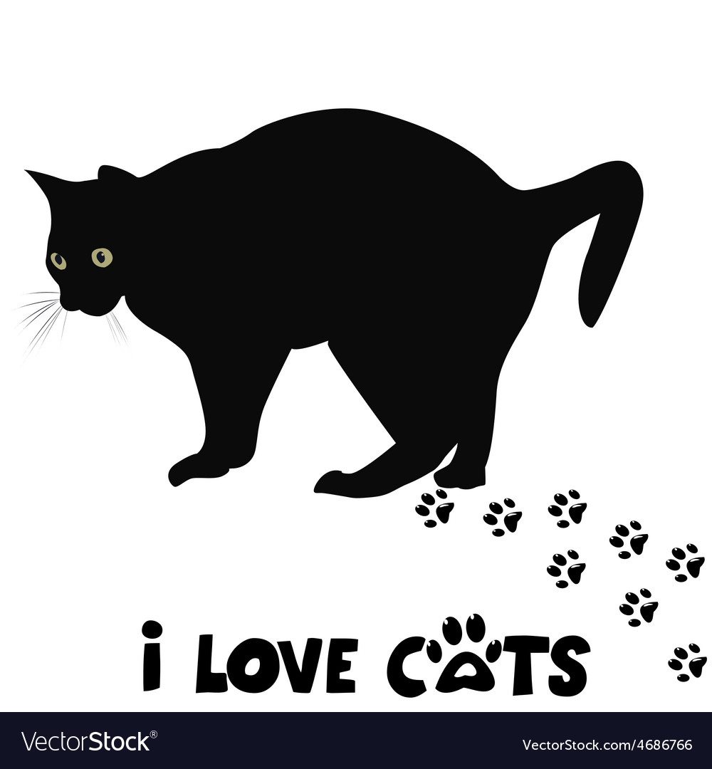 I love cats card vector | Price: 1 Credit (USD $1)