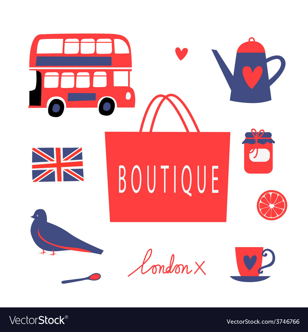 London touristic icons set vector | Price: 1 Credit (USD $1)