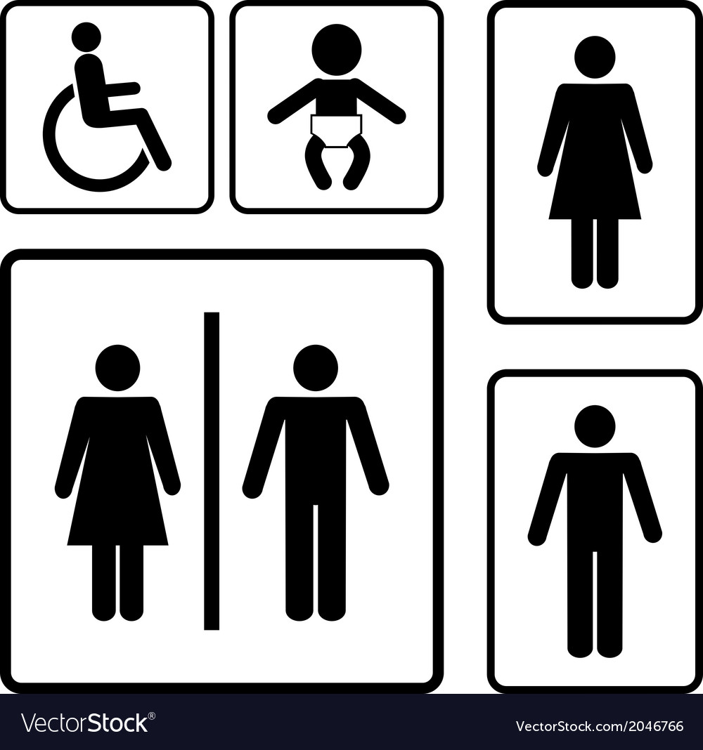 Restroom signs vector | Price: 1 Credit (USD $1)
