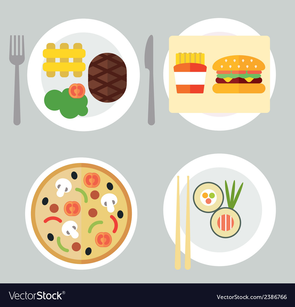 Takeaway set i vector | Price: 1 Credit (USD $1)