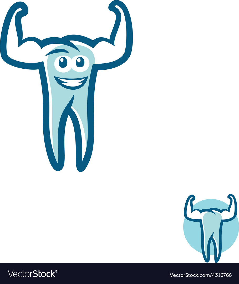 Tooth athlete symbol vector | Price: 1 Credit (USD $1)