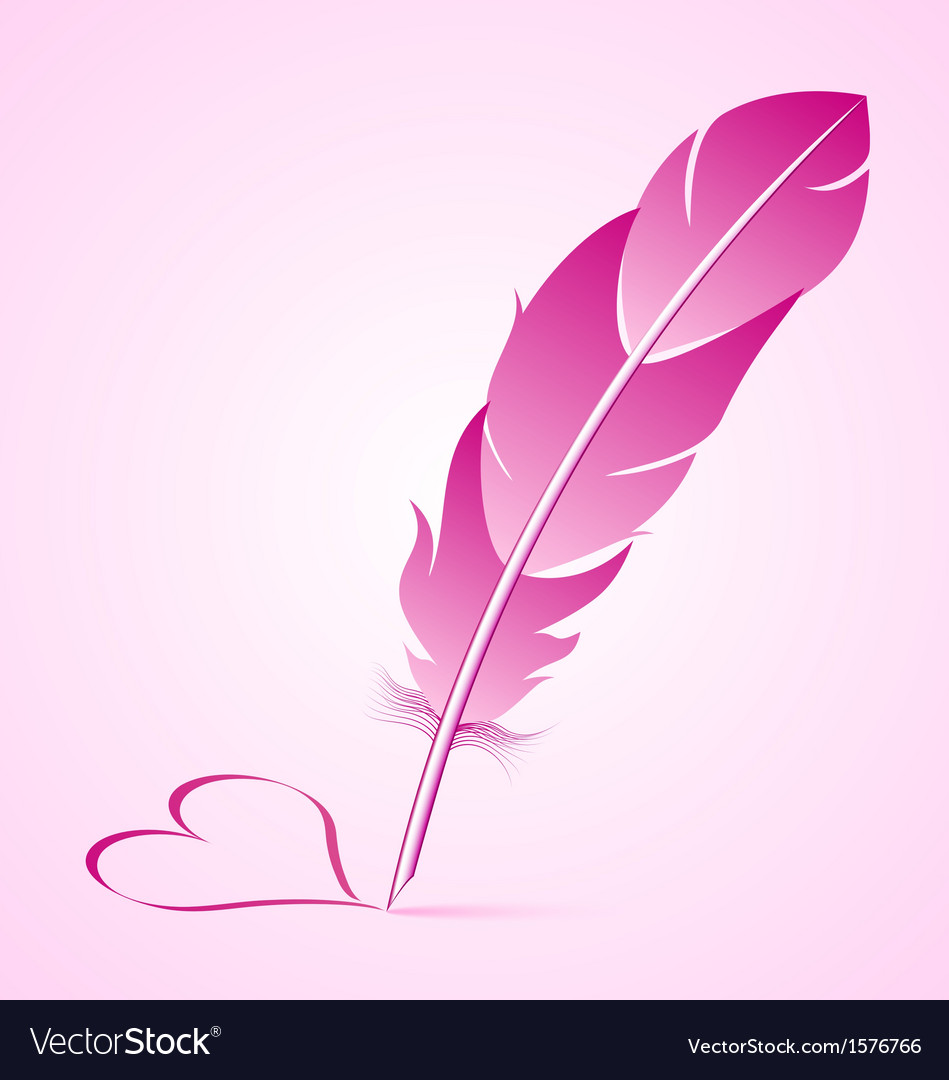 Valentines goose quill vector | Price: 1 Credit (USD $1)