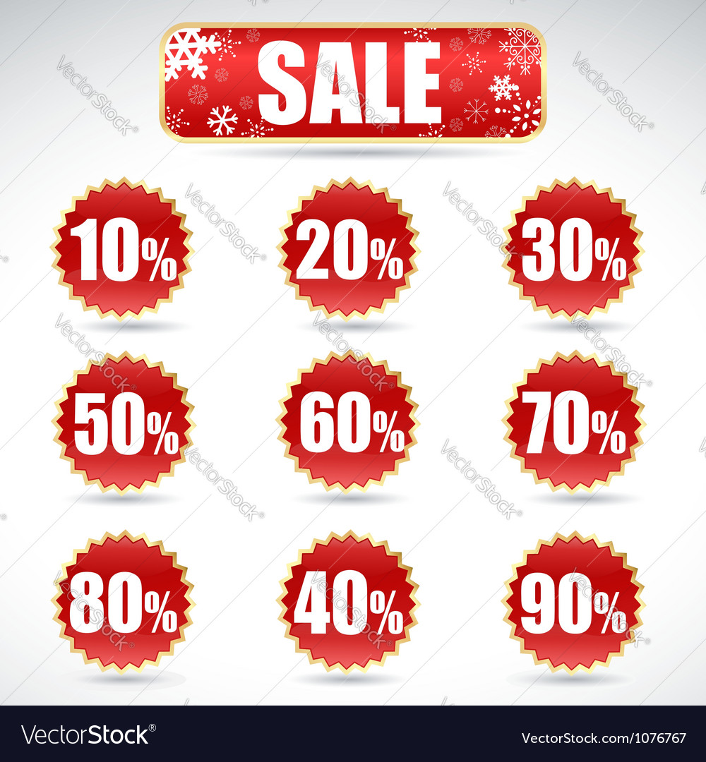Christmas sale stickers vector   Price: 1 Credit (USD $1)