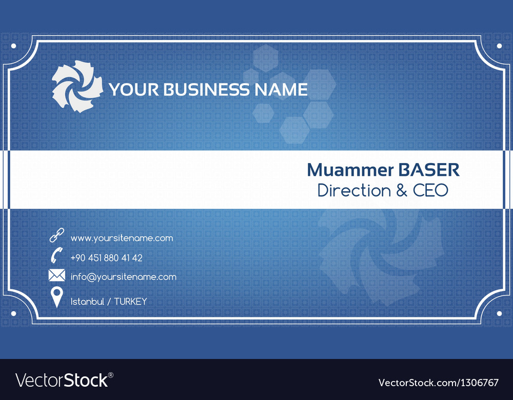 Creative blue business card vector | Price: 1 Credit (USD $1)