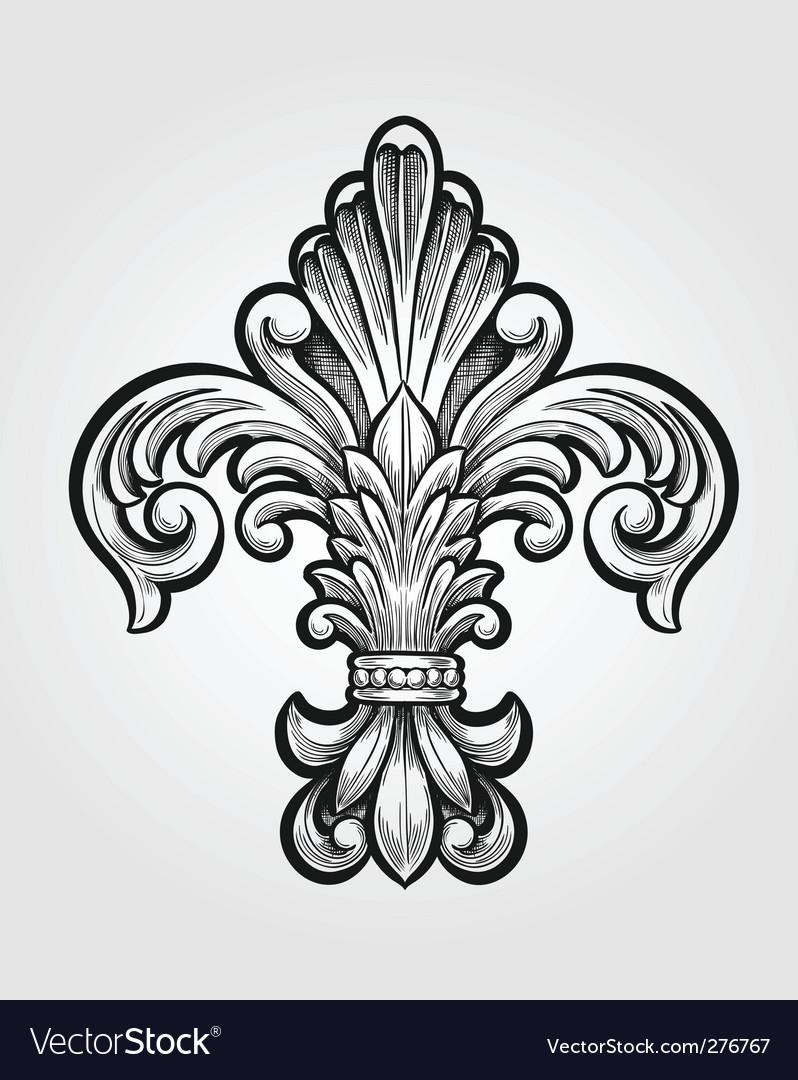 Elegant fleur-de-lis vector | Price: 1 Credit (USD $1)