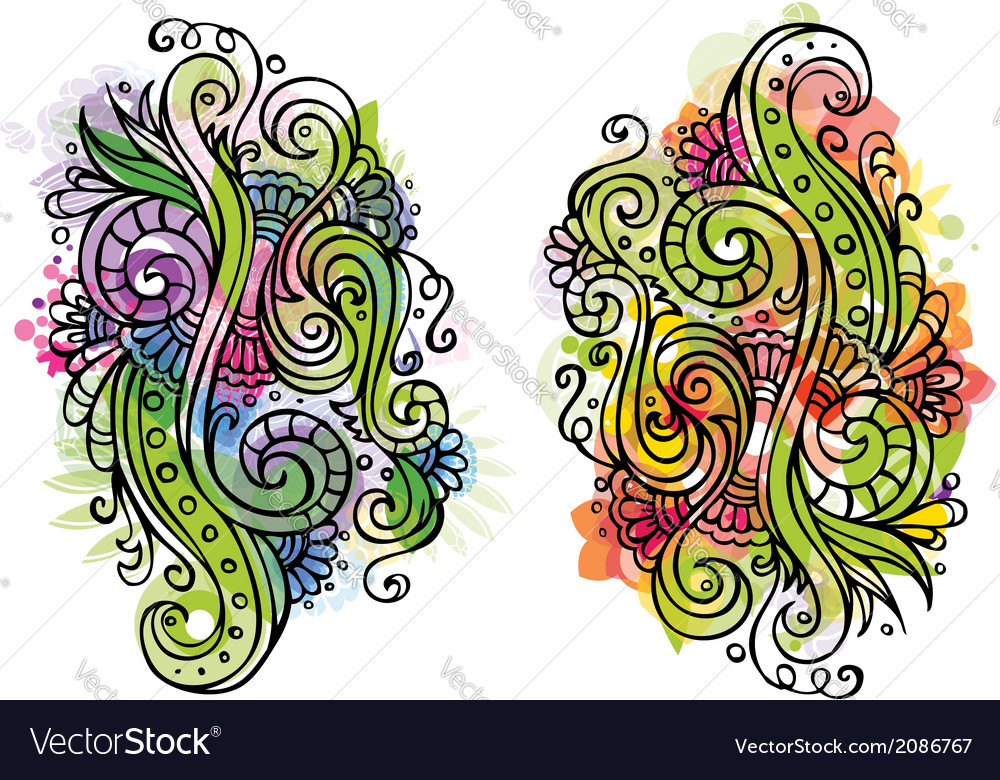 Fantasy fairy-tale floral ornament vector | Price: 1 Credit (USD $1)