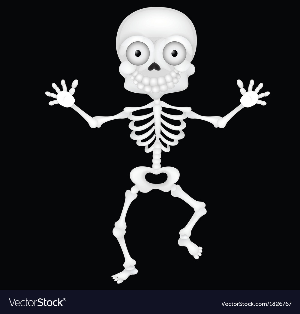 Funny skeleton cartoon vector | Price: 1 Credit (USD $1)