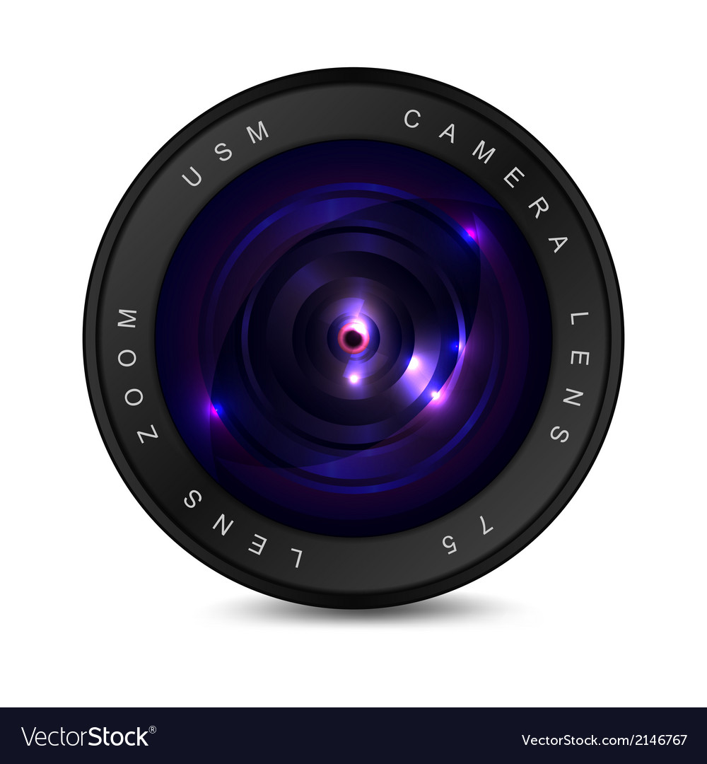 Lens on a white background vector | Price: 1 Credit (USD $1)