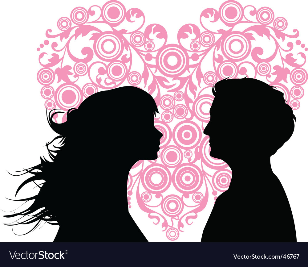 Loving couples vector | Price: 1 Credit (USD $1)