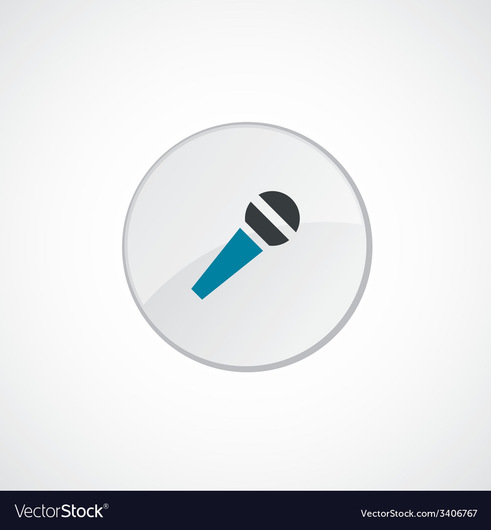 Microphone icon 2 colored vector   Price: 1 Credit (USD $1)
